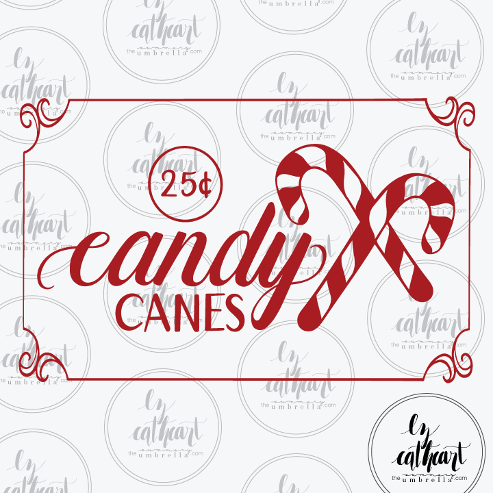 candy canes printable