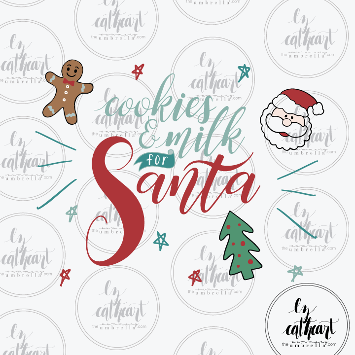 Cookies for Santa graphic