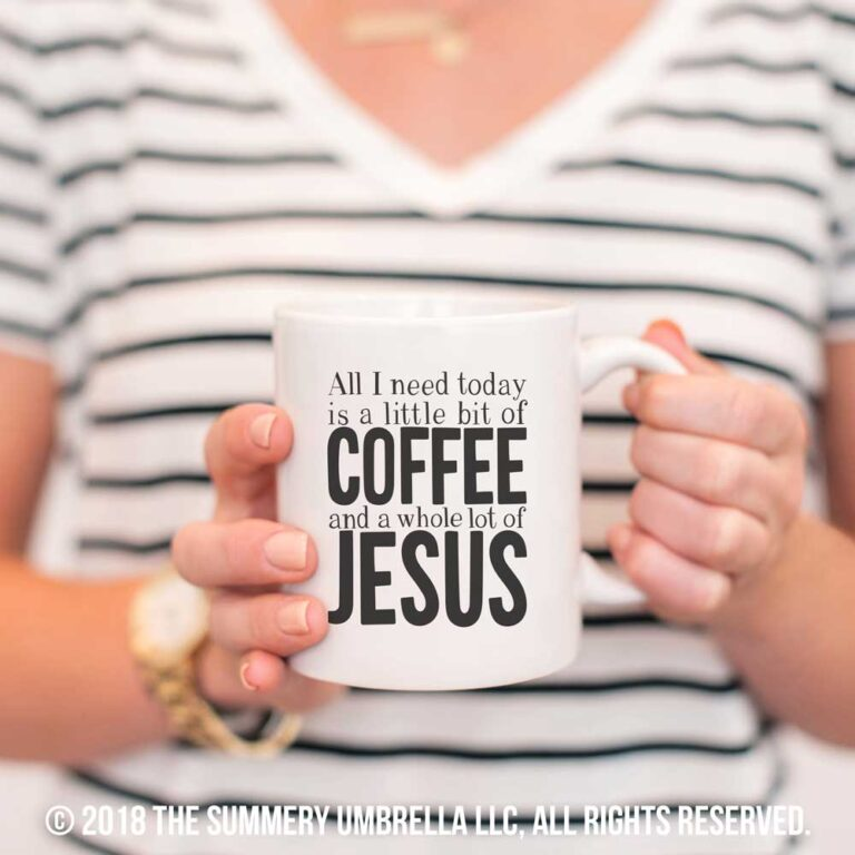 jesus and coffee printable