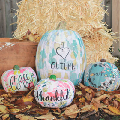 How to Make Floral Mod Podge Pumpkins
