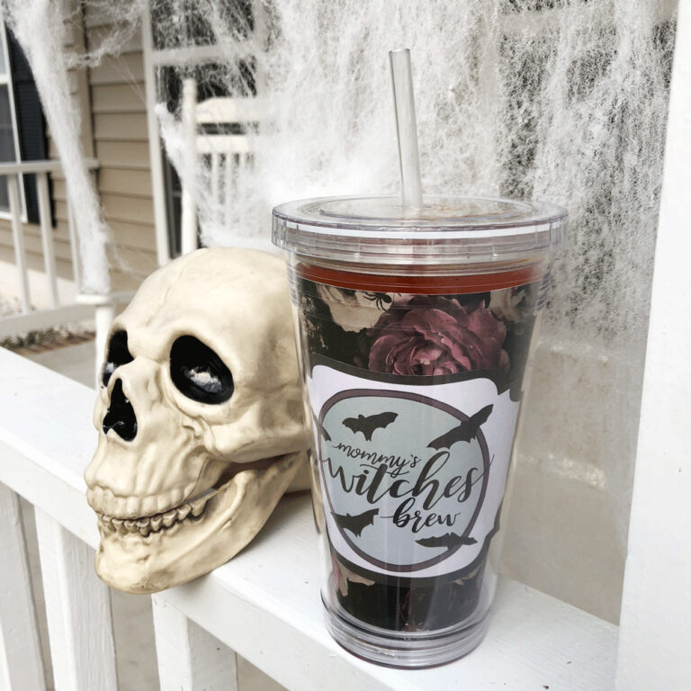 DIY Mommy's Witches Brew Tumbler Template (with FREE Download)