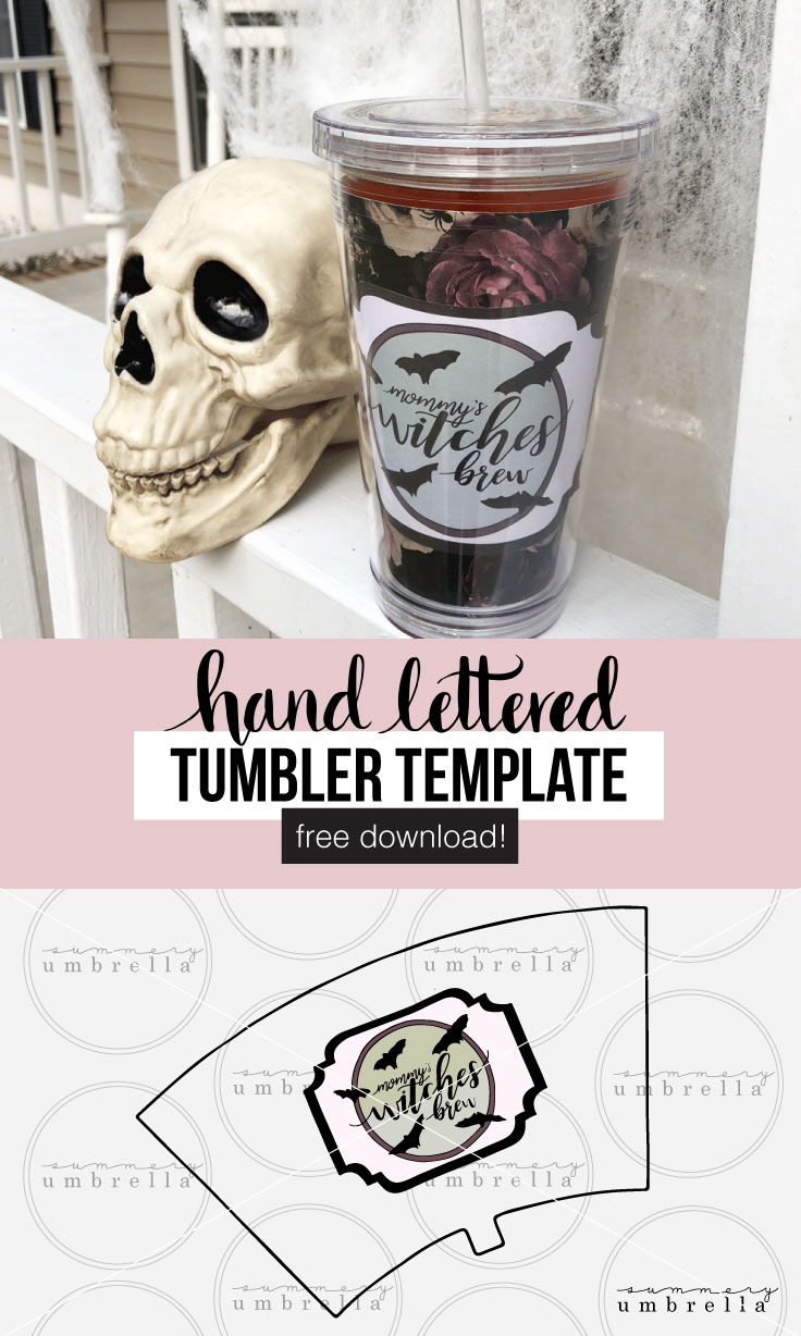 Enjoy your very own Halloween specialty with this DIY Mommy's Witches Brew Tumbler Template. Super easy and super free! Drink not included. ;) #momlife #witchesbrew #tumblertemplate #halloweentemplate #halloweentumbler #vector #vectorart #clipart