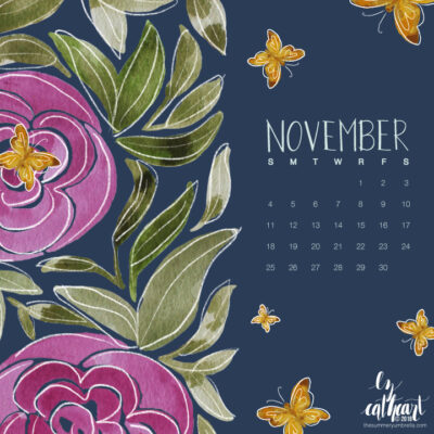 FREE November Calendar Download: Desktop and Smartphone Backgrounds