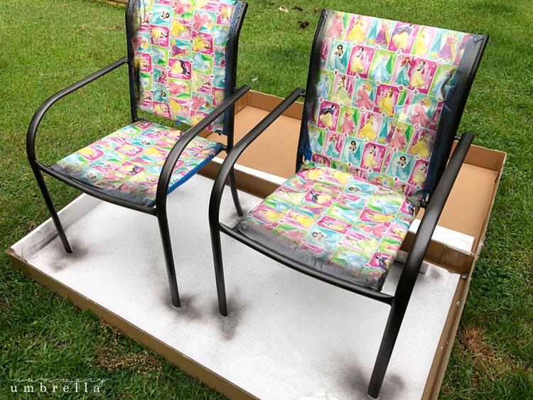 paint metal furniture ideas