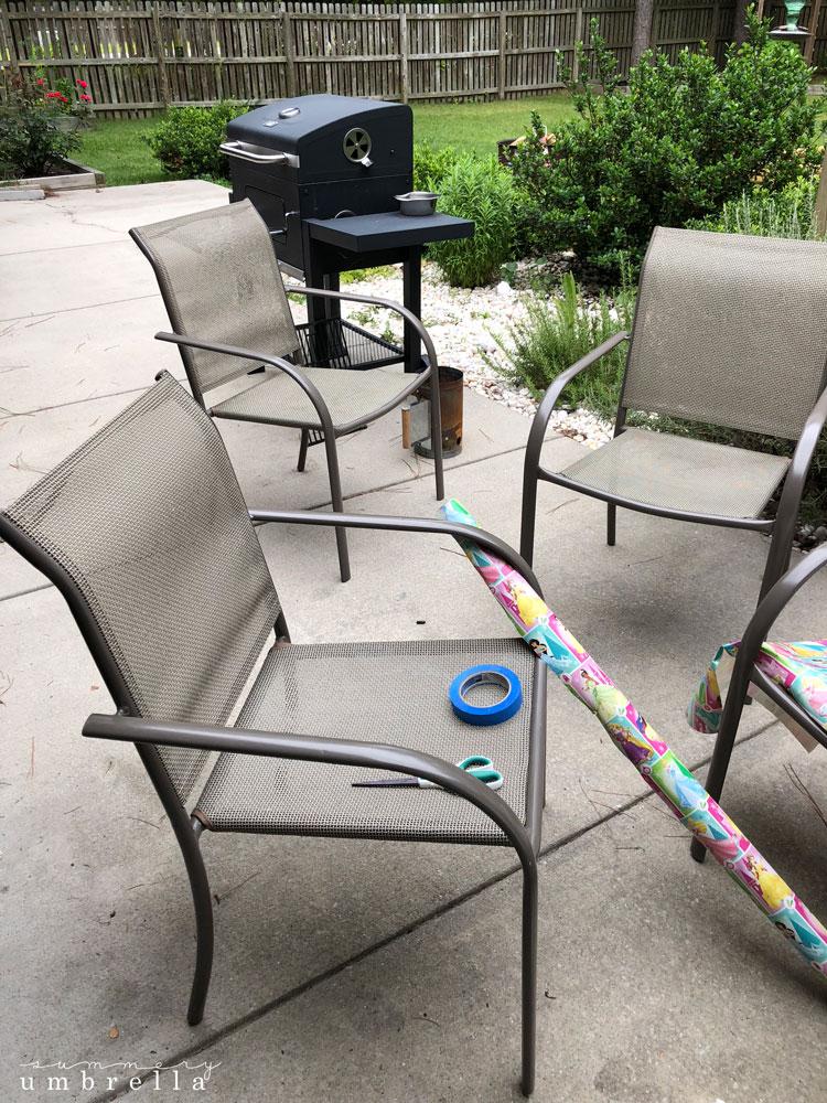 diy paint metal patio furniture