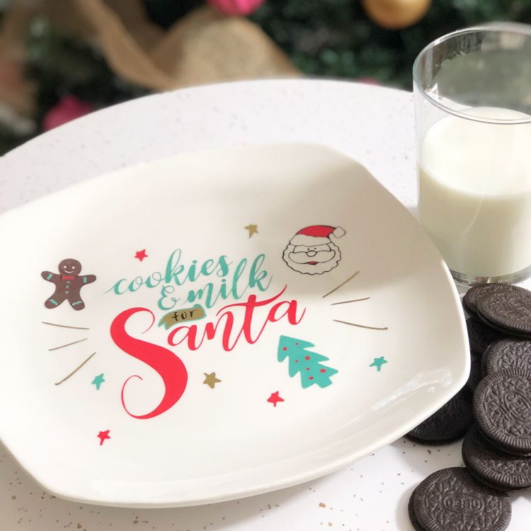 DIY Cookies for Santa Plate with FREE SVG!