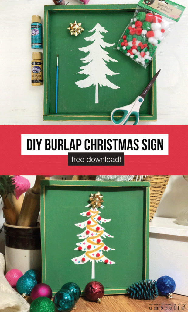 Do you have an old sign that needs a quick refresh? Try something new with this Colorful and Festive DIY Christmas Signs tutorial that is super easy for you or your children! #christmassigns #diychristmassigns #diychristmasgifts #diyholidaywoodsigns #christmasstencils