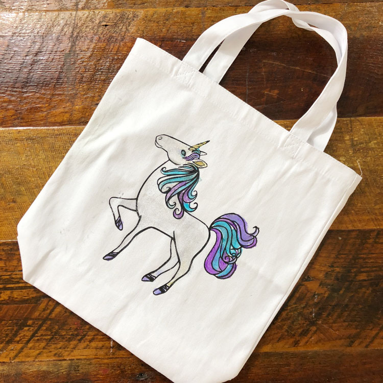 VIDEO TUTORIAL: Unicorn Inspired DIY Halloween Bag