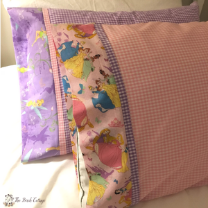 How to Sew a Pillowcase with Contrast Band by The Birch Cottage