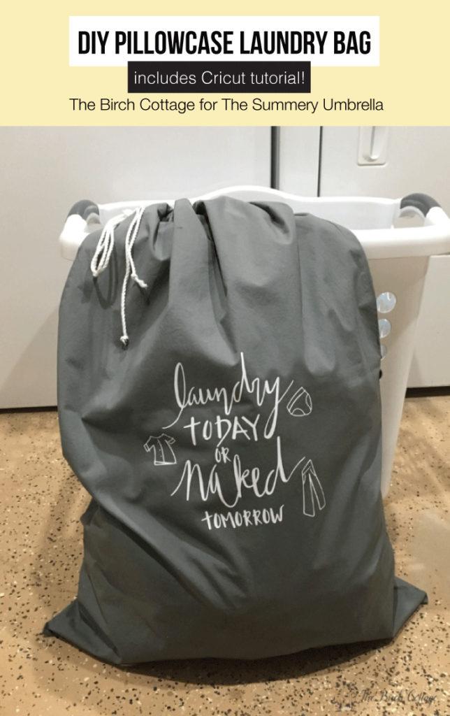 How to Make a DIY Pillowcase Laundry Bag | LZ Cathcart