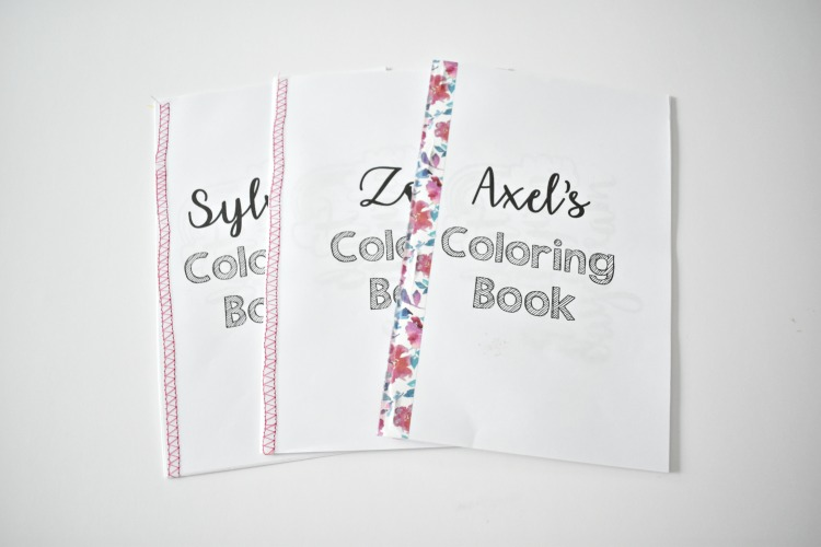different bindings for DIY coloring book