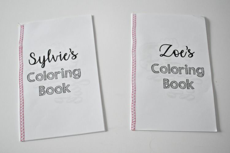 how to create coloring book binding with sewing machine