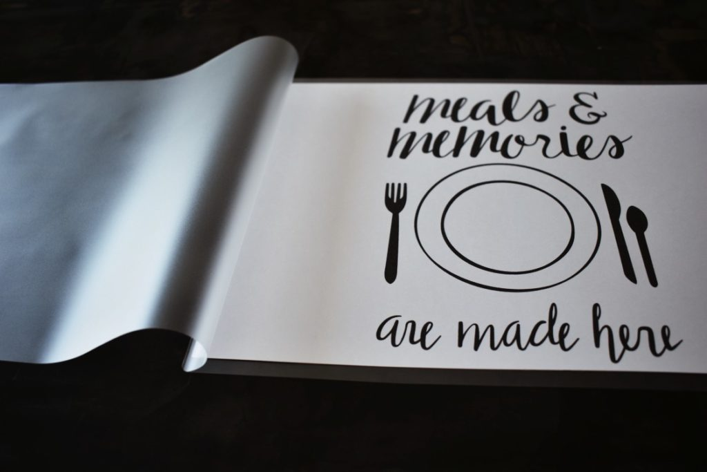 how to make DIY kids placemats to encourage healthy eating