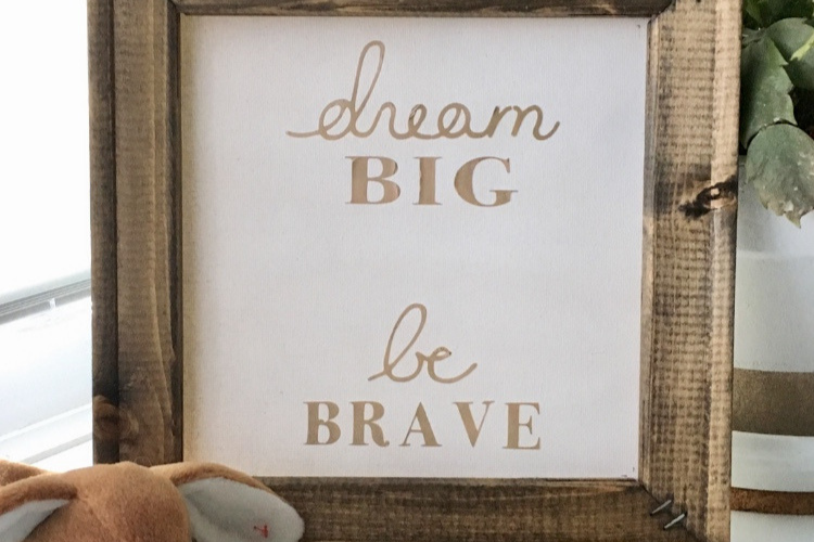 Learn how to make a reverse canvas sign.