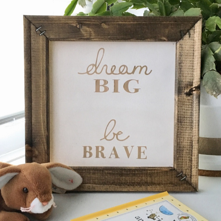 reverse canvas sign or wall art diy tutorial