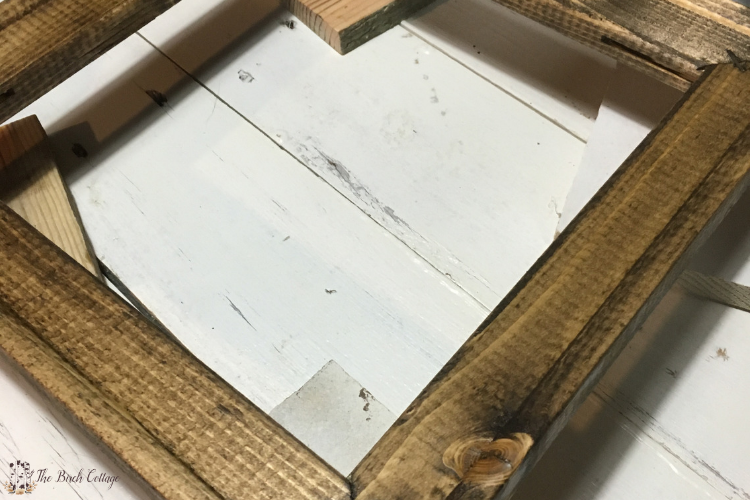 staining frame for reverse canvas wall art