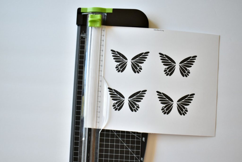 butterfly art getting cut from cardstock