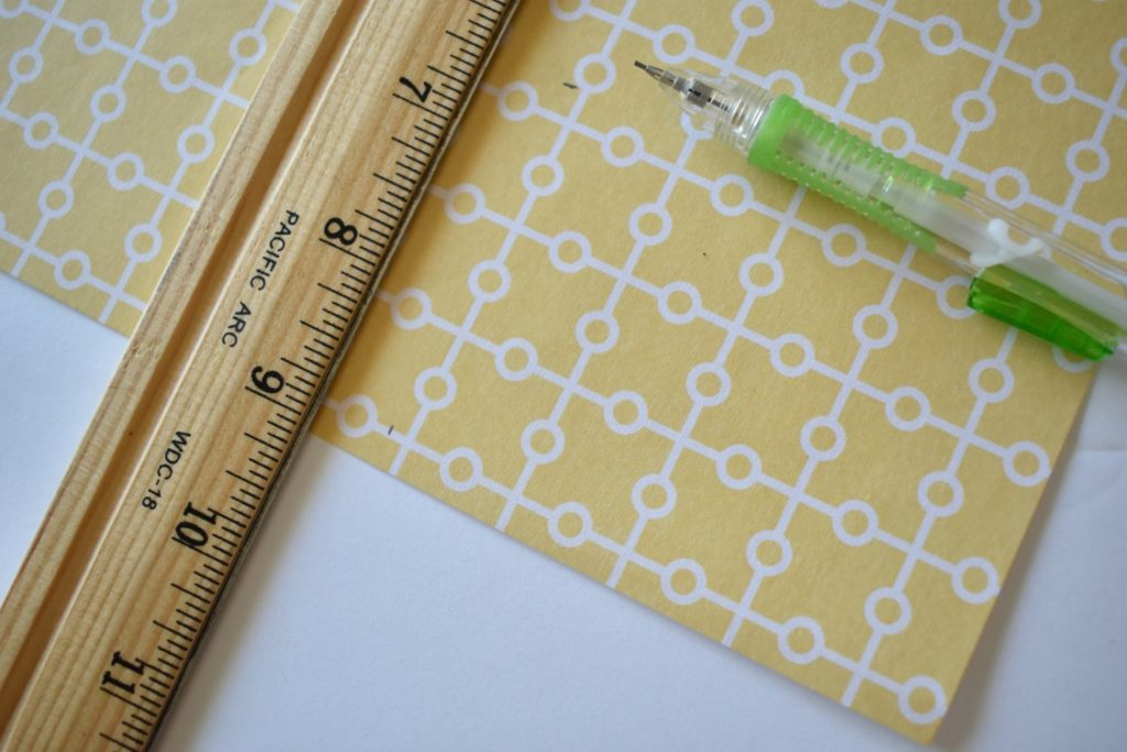 measuring rectangles on scrapbook paper