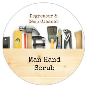 Man Hand Scrub and printable labels by The Birch Cottage