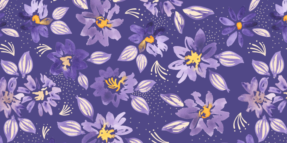purple clematis pattern