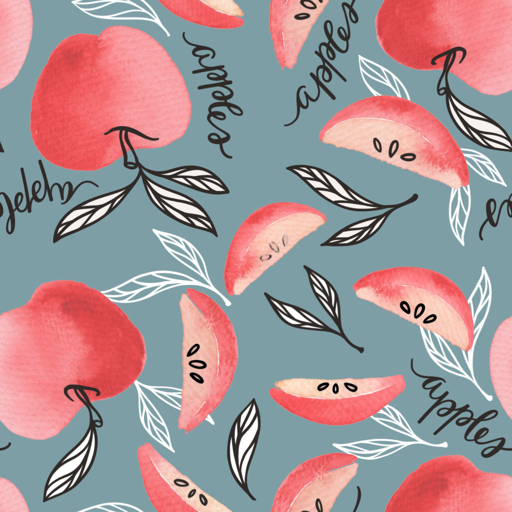red apples pattern