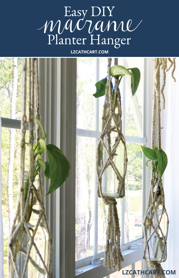 Did you know that you can create your very own DIY Macrame Plant Hanger? Not only is it easy, but you can use every day supplies as well! #diyplanthanger #macrameplanter #macramehangingplater #diymacrameplanthanger #diymacrame #macrame #plantlady