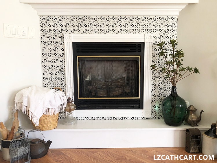 create a faux tile stencil