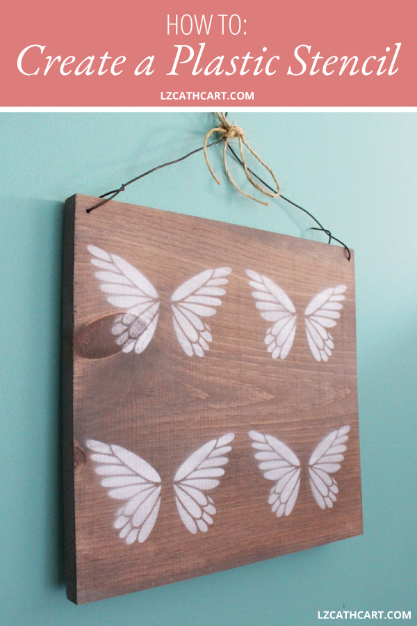 Sometimes you just need a plastic stencil for a project, but how do you make one? Learn how with this step-by-step and video tutorial! #plasticstencil #diyplasticstencil #stencilreusable #diystencil