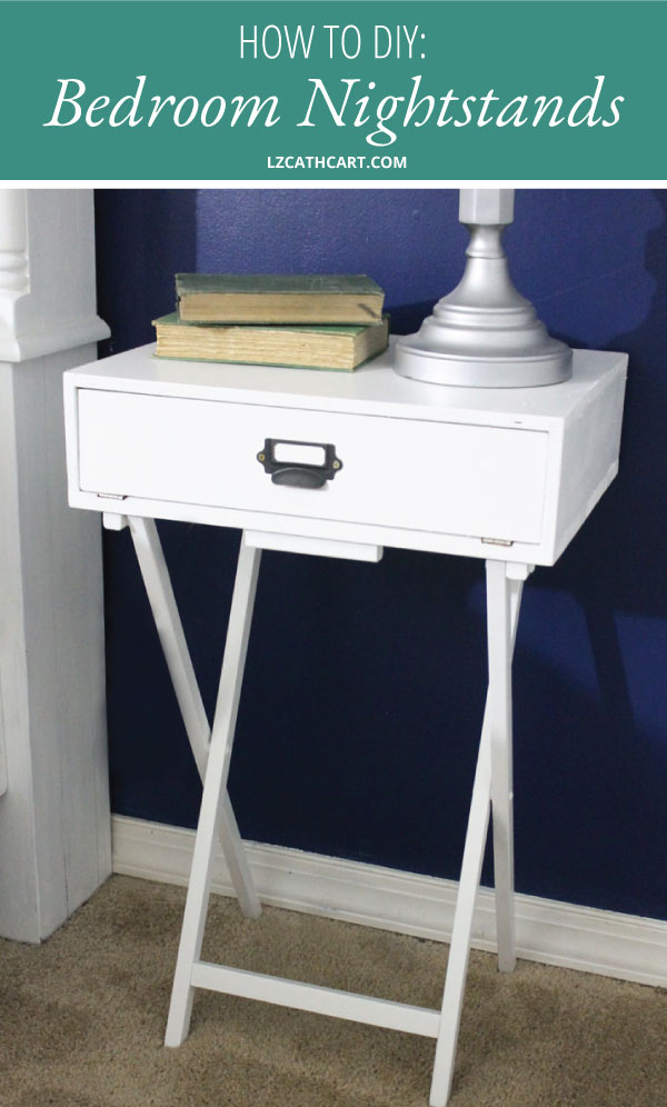 Would you love to have a beautiful, but affordable nightstand for your bedroom? Look no further! This DIY project is just for YOU! #diynightstand #diynighstanddecor #diynighstandmakeover #thesummeryumbrella #lzcathcart