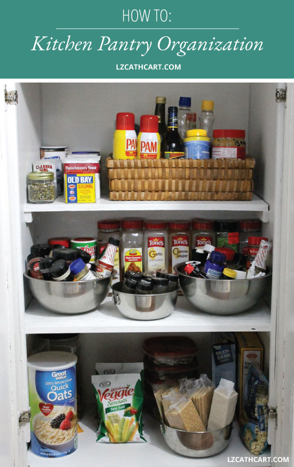 This quick and easy kitchen pantry organization idea is so simple that anybody can do it with a few simple items. Learn how today! #kitchenpantryorganization #kitchenpantryorganizationideas #kitchenpantryorganizationdollartree #pantryorganization