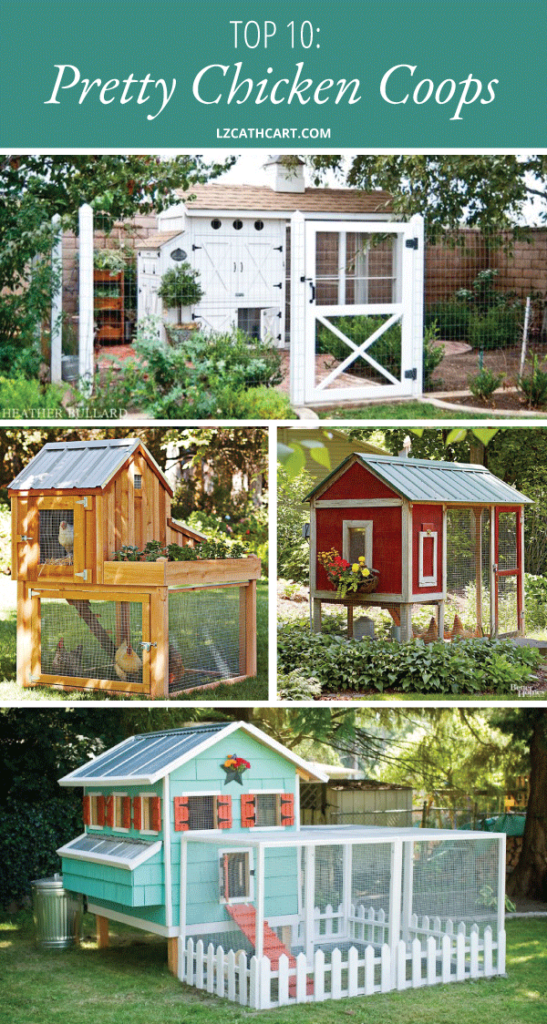 Do you have a chicken coop that you'd like to update? Maybe you need a little help in the inspiration department? Then, you're in luck my friend! Today's post is the one for you! :) #diychickencoops #chickencoop #chickencoopdesigns #chickencoopideas