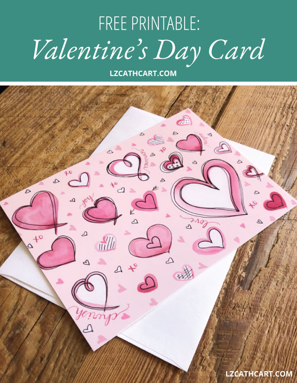 Have you been looking for printable Valentine's Day Cards for the upcoming holiday? Look no further, my friend! These FREE beauties are perfect for both kids and adults alike. #valentinescards #valentinecard #printablevalentine #diycard #freeprintable