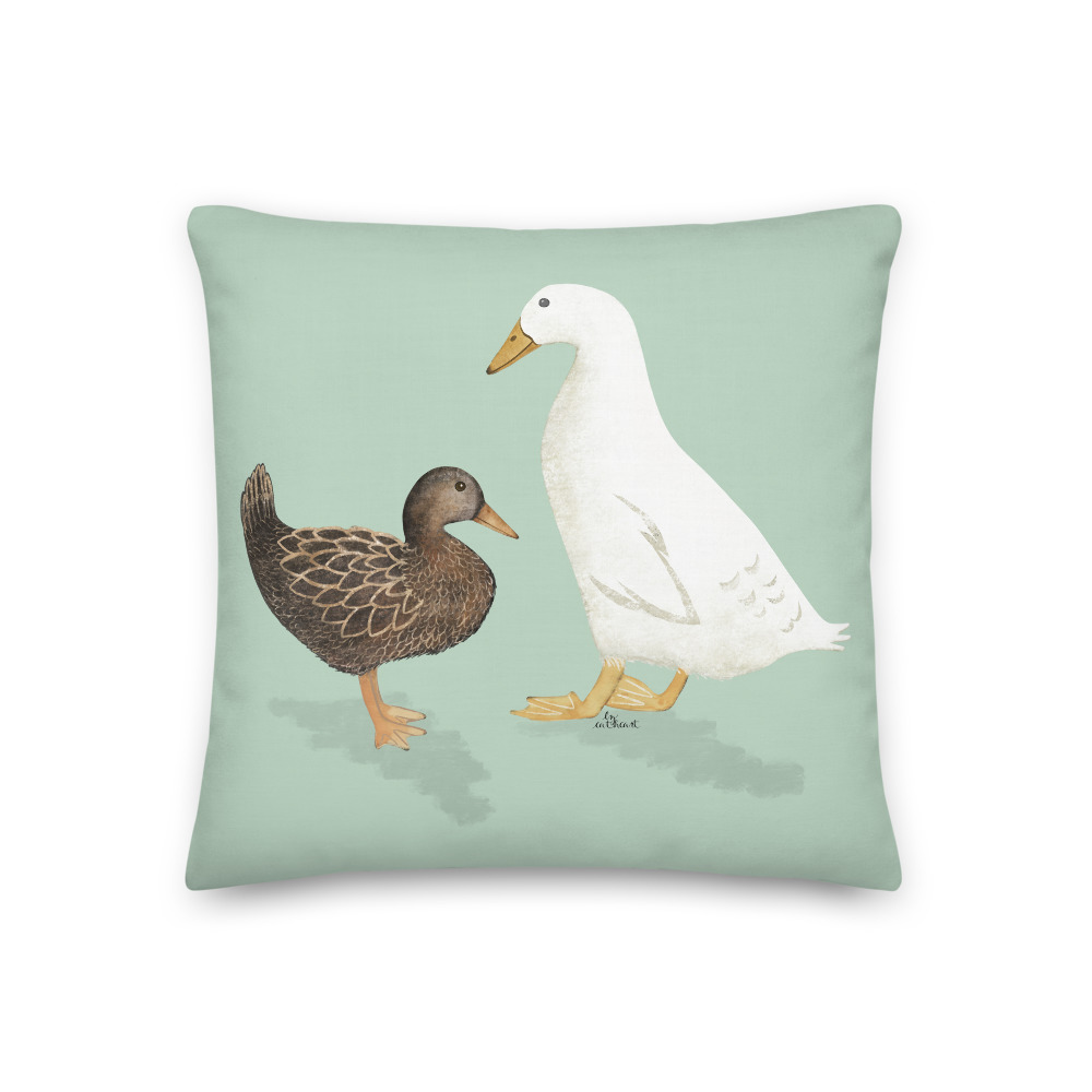 Farm Ducks pillow