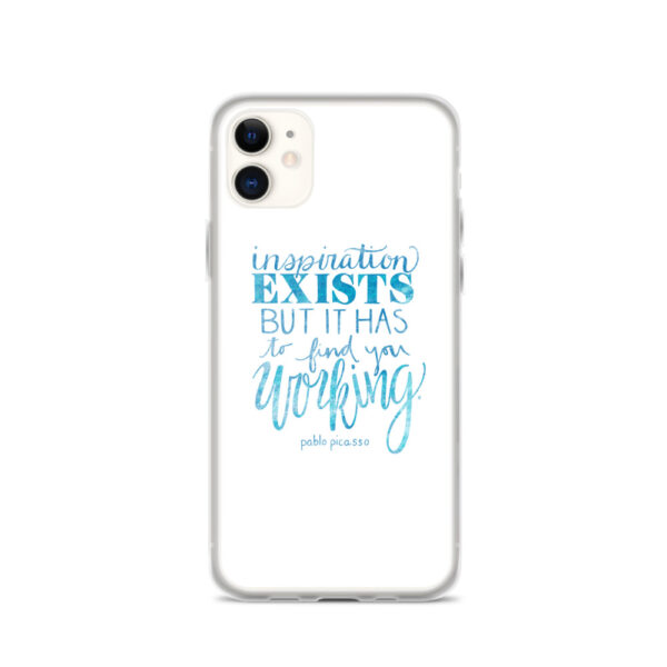 Inspiration Exists iPhone case in Blue