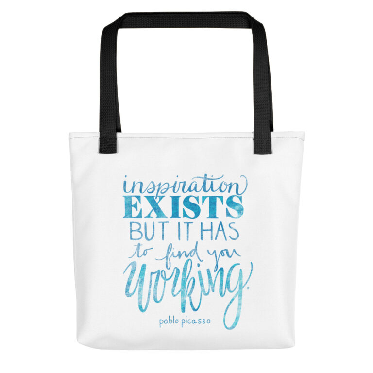 inspiration exists tote bag