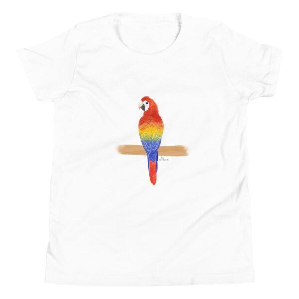 Scarlet Macaw white tshirt