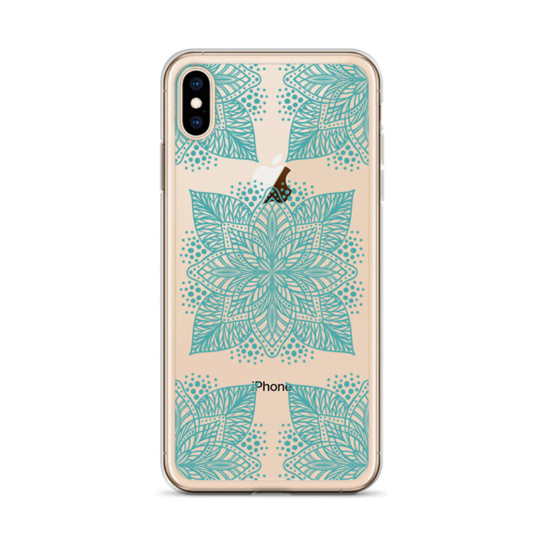 aqua flower mandala iphone case
