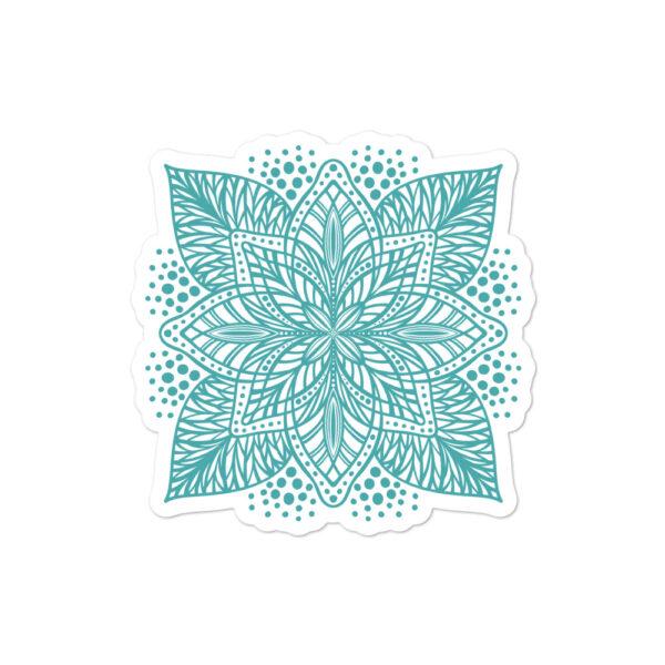 aqua flower mandala sticker