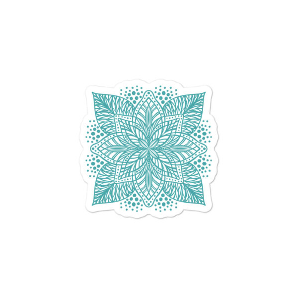 aqua flower mandala sticker