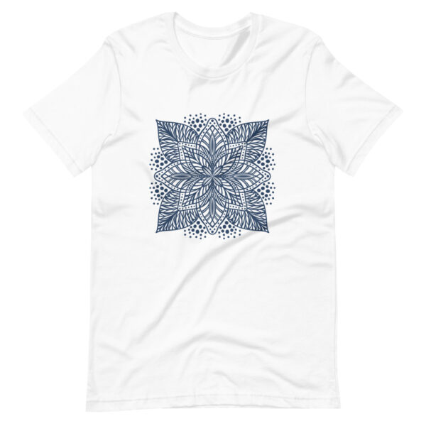 blue flower mandala women's t-shirt