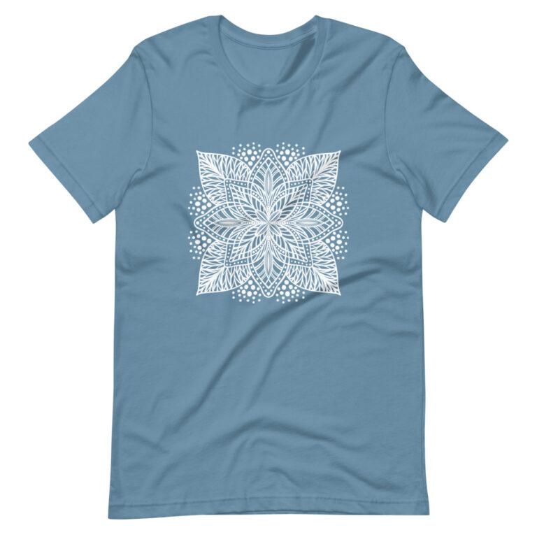 blue flower mandala women's t-shirt