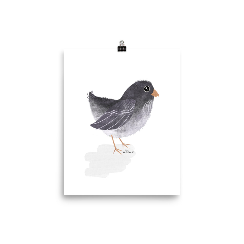 easter egger chick art print