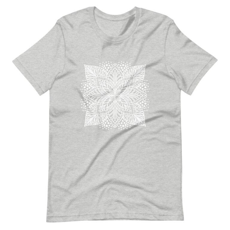 gray flower mandala women's t-shirt