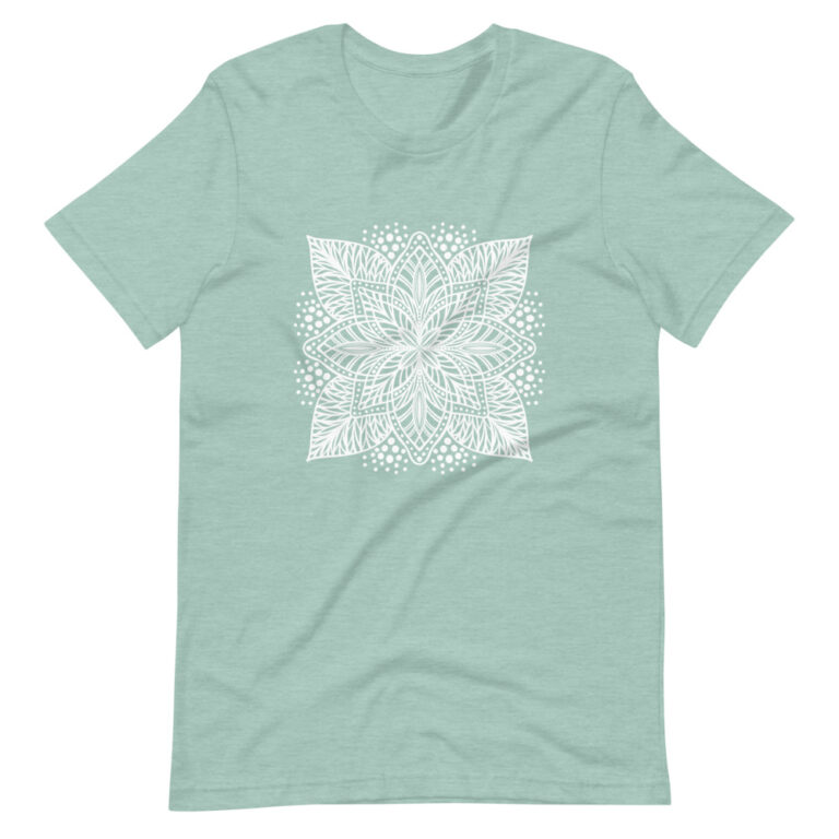 green flower mandala women's t-shirt