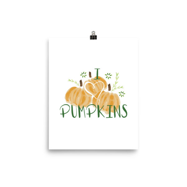 harvest pumpkins art print