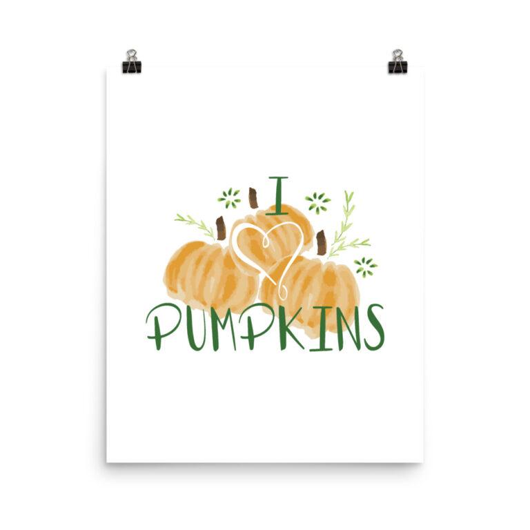 harvest pumpkins art print