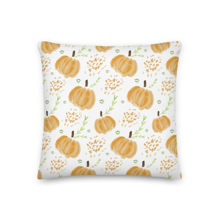 harvest pumpkins pillow