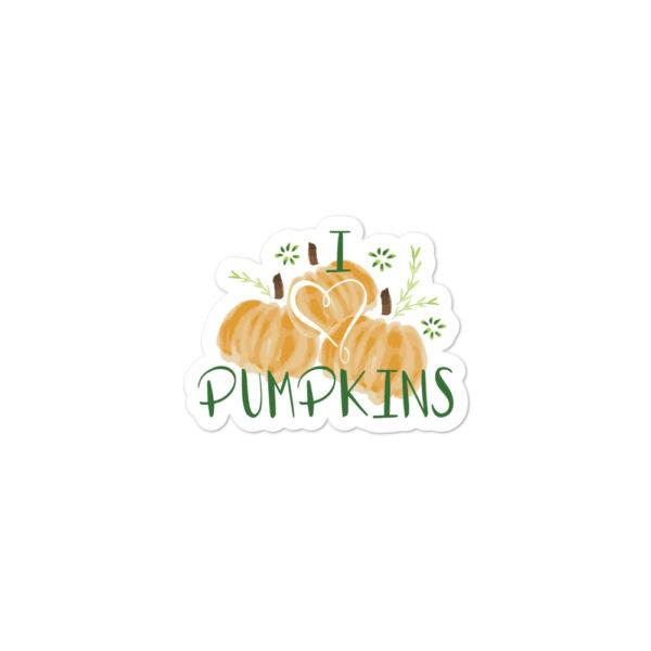 harvest pumpkins sticker