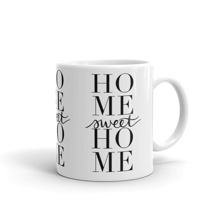 home sweet home mug in white