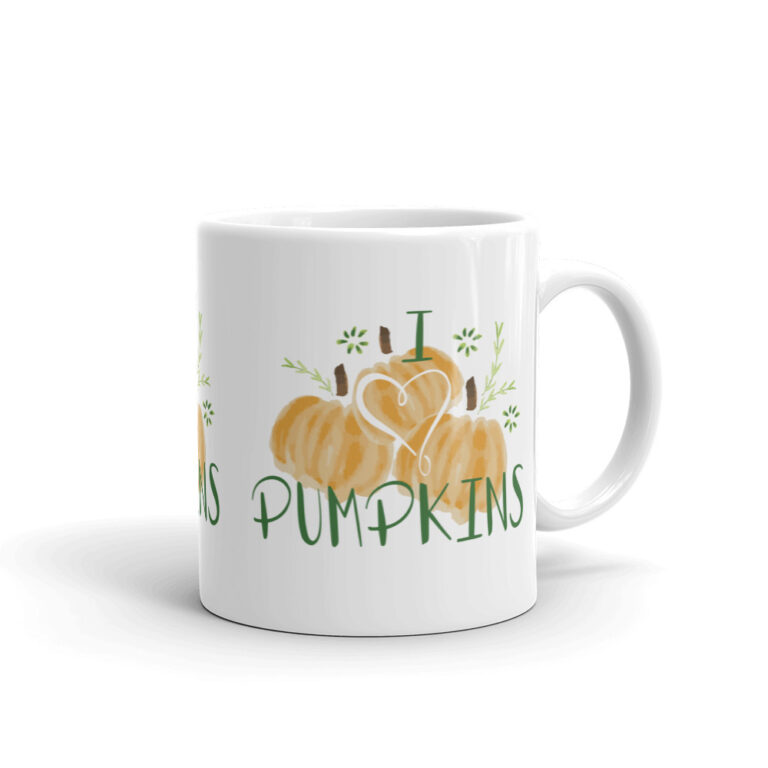 i heart pumpkins mug